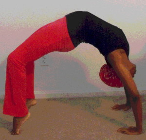 Woman with fibroids Yoga Pose