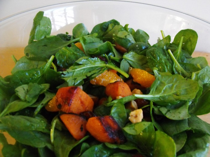 Baby Spinach Butternut Squash salad