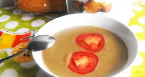 blended lentil soup with butternut squash