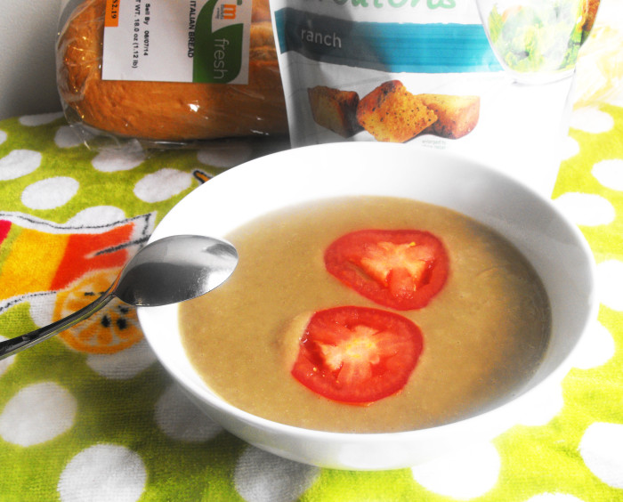 blended lentil soup with butternut squash