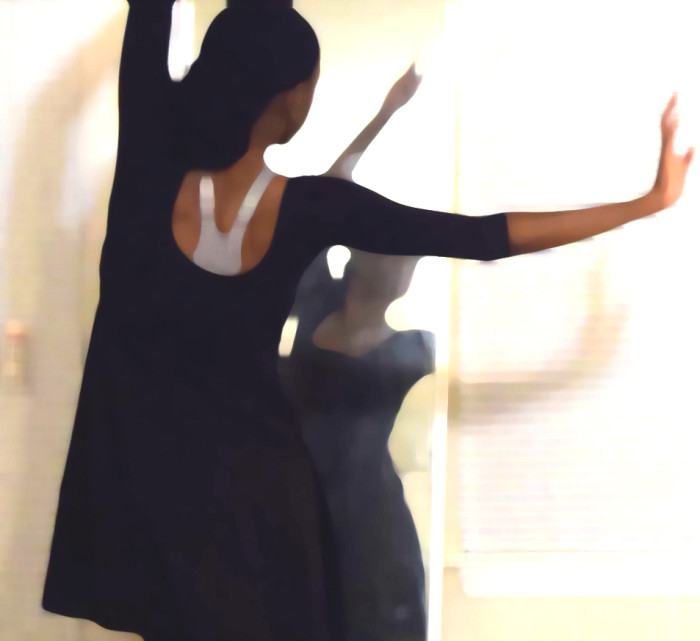 Monica dancing in living room Tuesday evening July 29th 2014 pntdb