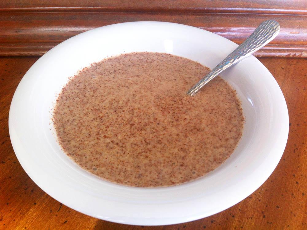 Blended Red Quinoa coconut milk porridge
