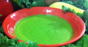 Kale spinach blended soup june 8 2015