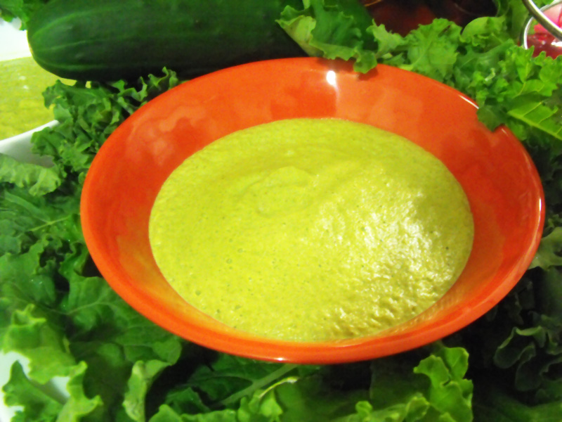 broccoli yellow squash kale blended soup