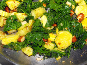 kale yellow squash zucchini