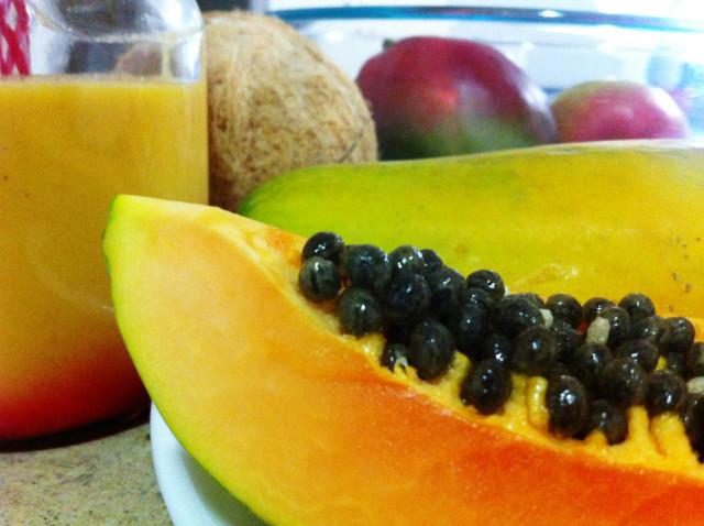 papaya mango pineapple drink