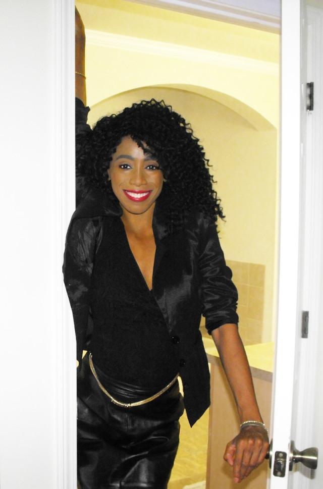 Monica black top June 29 2015 4