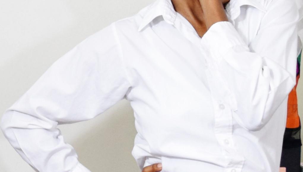 monica thursday morning January 21 2016 white shirt black skirt